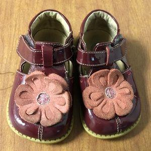 EUC Livie & Luca Sz 5 Toddler Maroon T-Strap Shoes